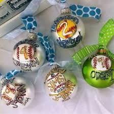 softball ornaments sports cookies