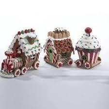 raz claydough gingerbread train christmas decoration shelley b