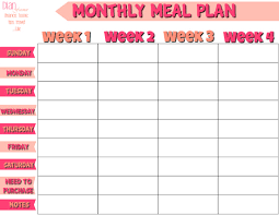 monthly dinner planner template free monthly meal planner dian farmer is the fact that a meal plan is as personal as creating a coupon organizing system you need to do what works for you the big but here is that you