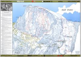 Map Of Yosemite Half Dome Climbing Maps Poster Diamond Productions