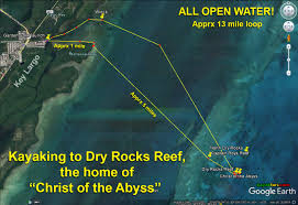 Distance From Diver Down Flag Kayaking To Dry Rocks Reef U2013 A Pilgrimage To Find The U201cchrist Of