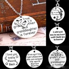 grandmother and granddaughter necklaces discount grandmother charm jewelry 2017 grandmother charm