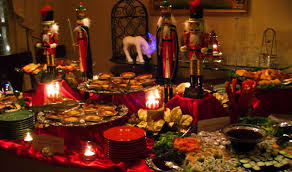 christmas party table decorations creative table decoration and service for lovely christmas party