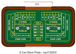 Craps Table Stock Illustration Of Craps A Craps Table With Odds Bets