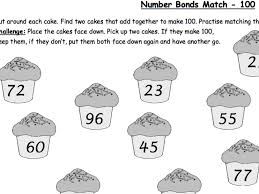number bonds to 100 number facts quick recall activity by