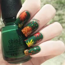 chrissyai fall leaves nails