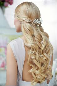 prom hairstyles for long hair half up half down straight top
