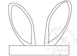 easter bunny ears coloring pages murderthestout