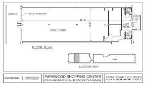 Retail Floor Plans by Parkwood Shopping Center Shopping Center Retail Space Korman