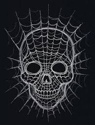 spiderweb skull threads unique and awesome embroidery designs