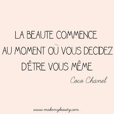 Coco Chanel Meme - la beauté commence au moment où vous décidez d être vous même coco