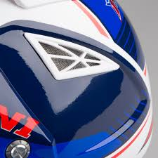 blue motocross helmets kini red bull competition motocross helmet marina blue u0026 white