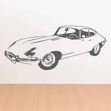 e type front sports car vinyl wall sticker by oakdene designs e type front sports car vinyl wall sticker