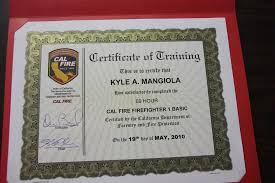 ca fire fighter joint apprenticeship committee the certificate
