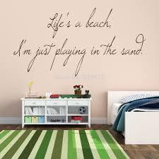 online get cheap american holiday stickers aliexpress com hot life s a beach play sand wall art sticker decal diy home decoration decor wall mural