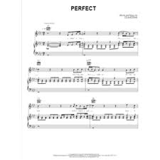 ed sheeran perfect text perfect ed sheeran piano vocal guitar single sheets engadine music