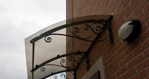 tettoie per porte esterne pensiline in plexiglass tettoie e pensiline caratteristiche