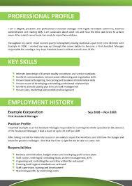 resume hospitality resume samples