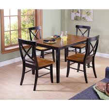 Shaker Dining Room Chairs by International Concepts Dining Essentials 5 Piece Black And Cherry