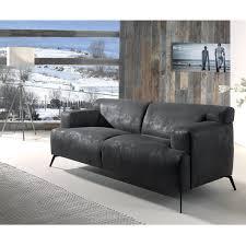 canap cocktail scandinave canapé d aspect cuir gris foncé au design vintage