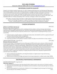 Sample Resume For Supply Chain Management by Logistics Specialist Resume Sample Free Resume Example And