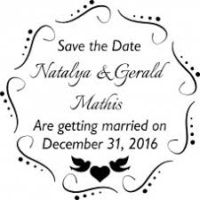 Save The Date Stamp Save The Date Rubber Stamps For Wedding