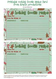 free christmas recipe card templates christmas lights decoration