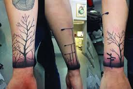 77 attractive tree wrist tattoos design