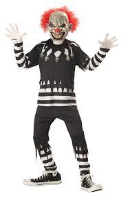 amazon com creepy clown boy u0027s costume clothing