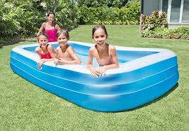 Backyard Blow Up Pools by Amazon Com Intex Swim Center Family Inflatable Pool 120