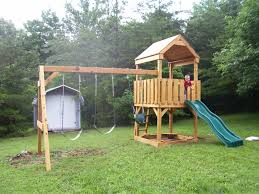 exterior oak wood backyard playsets with swing sets and expanse