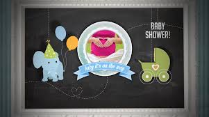 baby shower invitation boy version after effects royalty free