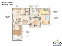 plan maison en u ouvert plan de maison plain pied 5 chambres