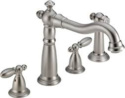 2 handle kitchen faucets faucet 2256 ss dst in brilliance stainless by delta