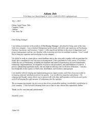 cover letter procurement procurement manager sample sample cover