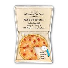Birthday Delivery Pizza Delivery Birthday Invitations Paperstyle