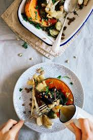roasted vegetables with mustard horseradish dressing the awesome