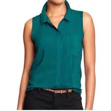 sleeveless blouses 70 navy tops teal sleeveless blouse from chelsea s
