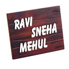 buy or send wooden name plate with letter cuts home doors 25 5