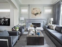 Steel Grey Curtains Gray Living Room With Gray Striped Marble Fireplace Contemporary