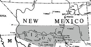 Map Of Southern Arizona by Confederates Take Tucson Arizona California Prepares For The