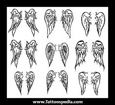 small wing tattoos designs for on back