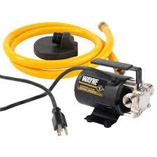 low volume water pump wayne 1 10 hp portable transfer utility pump pc2 the home depot
