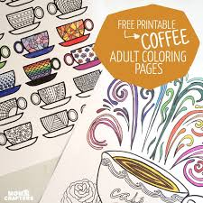 free printable coloring pages for adults coffee cups u2013 indie crafts