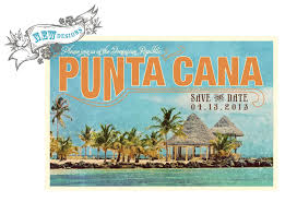 Wedding Save The Dates Destination Wedding Save The Date Postcard Punta Cana Dominican