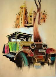 rusty car white background saatchi art old rusty car drawing by karl nassel