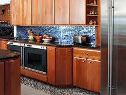 kitchen backsplash glass tile blue