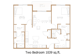 Two Bedroom Floor Plan by Hawley Mn Apartment Floor Plans Great North Properties Llc
