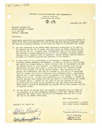 lot detail 1957 rca letter agreement with elvis presley and