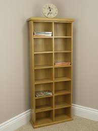 Oak Cd Storage Cabinet Oakland Chunky Oak Cd Dvd Storage Unit Tall Wide Double Rack